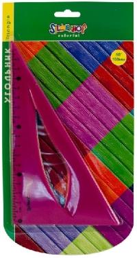 Треугольник пластмассовый 60°*18 см Colorfull гнущийся блистер 540089